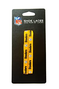 NFL Pittsburgh Steelers Gold 54-Inch LaceUps Shoe Laces at SteelerMania