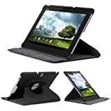 Goliton® Stand 360 Degree Rotation/rotating Protective Leather Case Wallet / Cover / Stand / Flip Case Cover Sleeve for Asus Transformer Pad TF300/ TF300T / TF300TG - Black