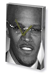 JAMIE FOXX - Canvas Clock (LARGE A3 - Signed by the Artist) #js001