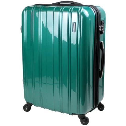 スーツケース TSAロック 搭載 超軽量 レグノライト2013~3サイズ( 大型 ジャスト型 中型 ) ミラー加工 旅行かばん キャリーバッグ トランク 【SUCCESS サクセス】(大型 74㎝, ブリリアントグリーン)