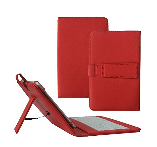 Click to buy Tsmine Samsung Galaxy Tab A 8.0 Tablet Keyboard Case - Quality Micro USB Keyboard W/ Premium PU Leather Case Stand Cover for Samsung Galaxy Tab A 8.0 SM-P350 P355 P357 Tablet, Red - From only $15.89
