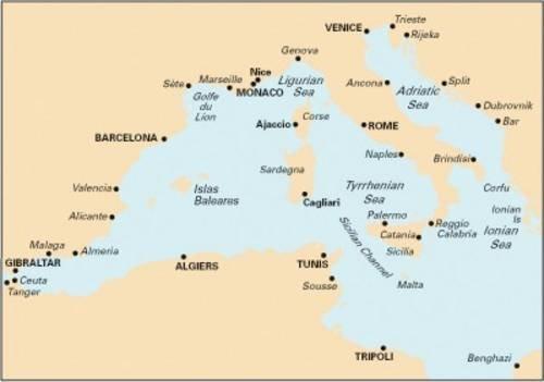 Imray Chart M10: Western Mediterranean - Gibraltar to the Ionian Sea