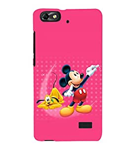 printtech Mickey Mouse Pluto Disney Back Case Cover for Huawei Honor 4C::Huawei G Play Mini