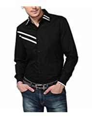 Dazzio Men's Slim Fit Cotton Casual Shirt - B00MNCV3QS