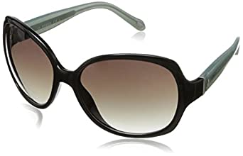 Fossil Women's FOS3014S Round Sunglasses,Black,59 mm