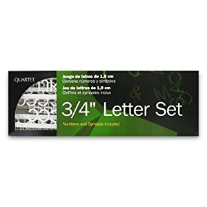Amazoncom quartet 3 4 in white 318 assorted letter set for Quartet letter set