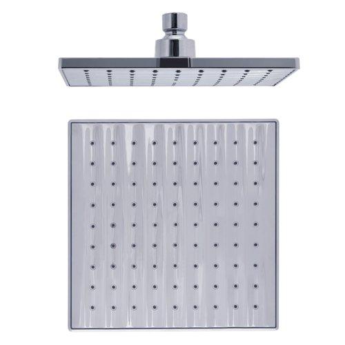 Ouku 8-Inch Fixed Square Rainfall Widespread Waterfallfall Bathroom Shower Head Lavatory Bath Shower Faucet Ceramic Valve Plumbing Fixtures