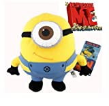 WAWO Despicable Me Deluxe 3D Minion Figure Plush Toy Soft Doll collectible (Stewart 9'')