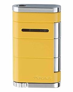 XiKAR Allume Single Torch Flame Cigar and Cigarette Lighter Yellow Lifetime Warranty