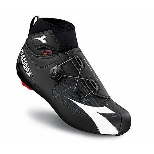 Diadora 2016 Men's Polarex Plus Winter Road Biking Shoe - 170229 (Black/White - 45)