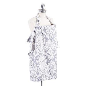 Bebe Au Lait Nursing Cover - Cotton - Chateau Silver (Discontinued by Manufacturer)