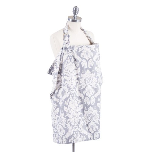 Great Features Of Bebe Au Lait Nursing Cover, Chateau Silver