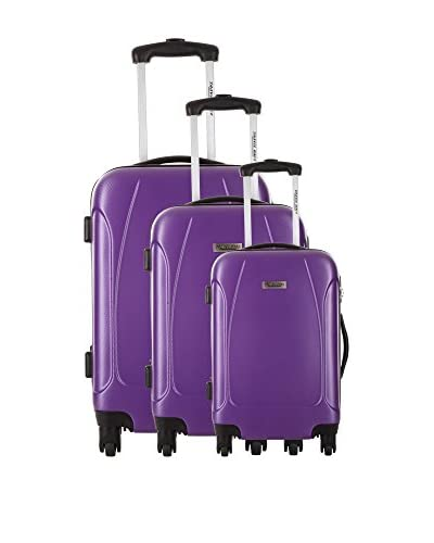TravelOne Set 3 Trolley Rigido Swindon [Viola]