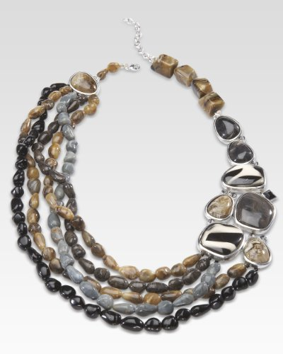 Animal-Print Beaded Necklace