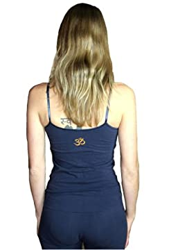 Embroidered Aum (Om) Shelf Camisole Yoga Top