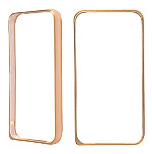 Moblo Bumper Cases Cover ( Golden ) With Free Tempered Glass For Sony Z1
