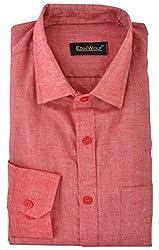 Edinwolf Men's Formal Shirt (EDFR725_42, Pink, 42)