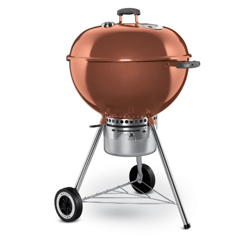 weber 1352001 one touch gold kettle grill 22 5 inch copper berniece r carignankier. Black Bedroom Furniture Sets. Home Design Ideas