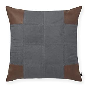 Tommy Hilfiger Decorative Bed Pillows : Amazon.com - Tommy Hilfiger Pieced Leather Decorative Pillow, Grey
