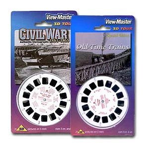 Amazon.com: OLD TRAINS & CIVIL WAR - 2 ViewMaster 3D 3-Reel Sets: Toys