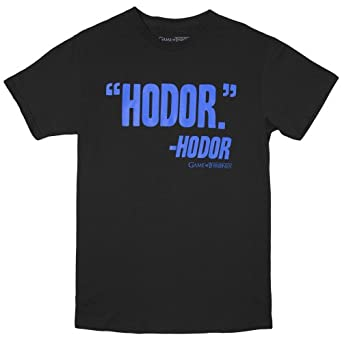 Game of Thrones Hodor's Thoughts Adult Shirt (Small)