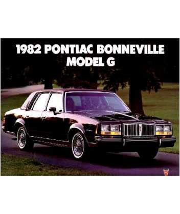 1982 Pontiac Bonneville Sales Brochure Literature Book Advertisement Options