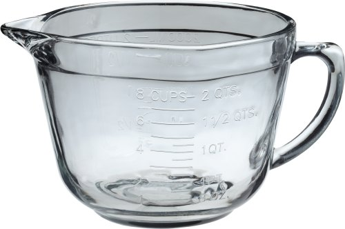 Kitchen Supply 2-Quart Ovenproof Glass Batter Bowl