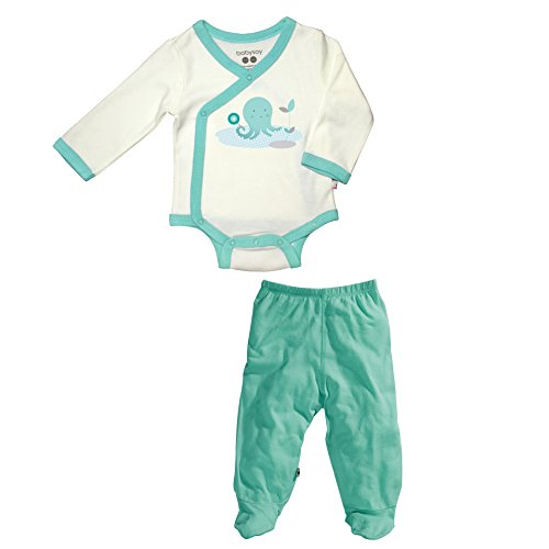 Babysoy O Soy Kimono Bodysuit And Footie Pants Set In Octopus (0-3M)