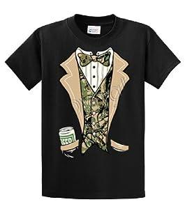 Tuxedo T-Shirt Camo Tuxedo With A Beer