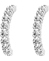 Rafaela Donata Classic Collection Boucles d'oreilles demi-créoles Argent Sterling 925 Oxydes de zirconium blanc - 60837009