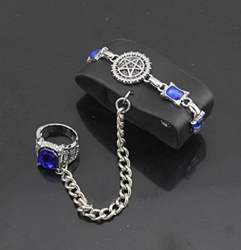 Butler Black Wristband Ring Set Contract Style Cosplay Accessory