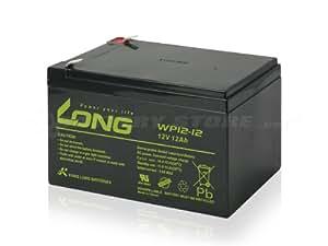 Kung Long / WP12-12 (NPH12-12 RE11-12 PE12V12F2/Z GP12120 HF12-12 12SSP12互換) 12V用 サイクルバッテリー シールド型 MF