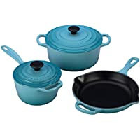 Signature Enameled Cast Iron 5-PC Cooking Set (Multi Colors)