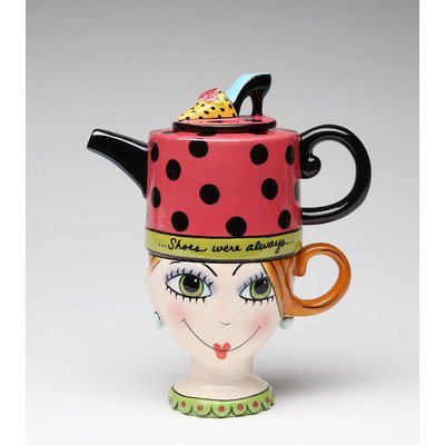 Shoes on Her Mind 0.31-qt. Teapot Kettle Set for One (Novelty Teapots compare prices)