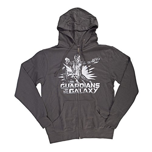 Marvel Guardians of the Galaxy Star Lord & Rocket Raccoon Men's Zip Hoodie