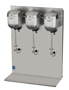 Waring Commercial DMC201DCA Heavy Duty Die Cast Metal Triple Spindle Drink Mixer by Waring