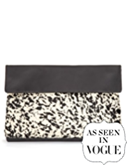 Autograph Leather Slouch Clutch Bag