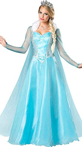 Lover-baby® Blue Ice Elsa Snow Princess Costume Adult Dress up Costumes