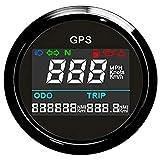 ELING Universal Digital GPS Speedometer Trip Meter Odometer Adjustable for Boat Yacht Motorcycle Car 2
