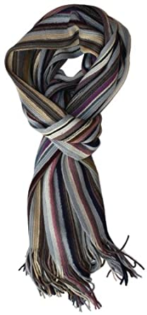 SethRoberts-Long Striped Men's Knit Winter Scarf (Dark Purple)