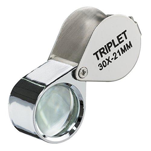 MEDca Magnifier Loupe - 30x 21mm Triplet Folding Magnifier Lens - 1