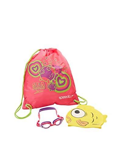 Speedo Occhialini da Piscina Set Swim Bag [Multicolore]