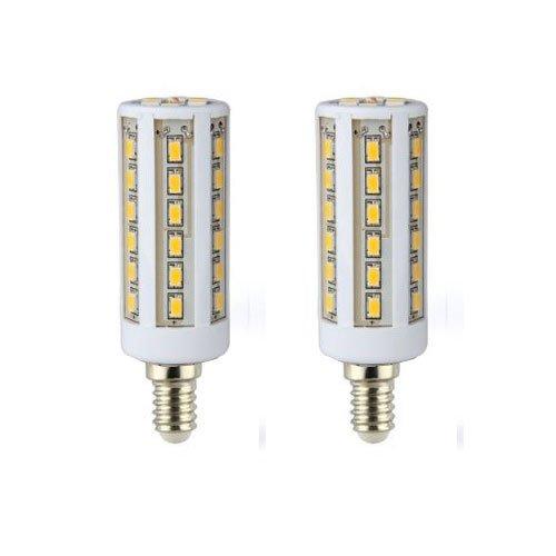 Smartdealspro 2Pcs E14 110V 6000K-6500K White Ultra Bright 6W 42Leds 5050 Smd Led Corn Corncob Light Lamp Bulb Aluminum Substrate