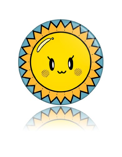 Cute Sun Funny Face Art Button Badge Cool Retro Gift Present Baby Shower Birthday front-833757