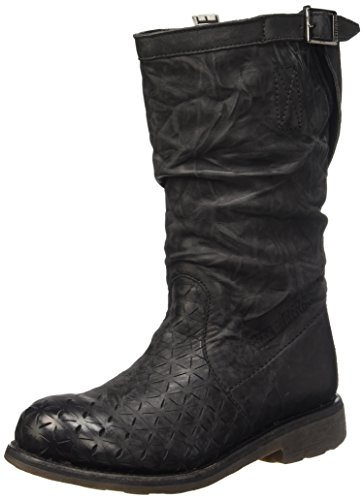 Bikkembergs Vintage 255 M.Boot W Leather Scarpe Low-Top, Donna, Nero (Black/Origami Effect), 39