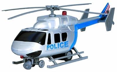 Dickie Toys 203715002 - S.O.S. Garage, SOS Spielset mit Polizei, Ambulanz, Helikopter und Feuerwehr, Autos ca. 13-16 cm, Helikopter 31 cm