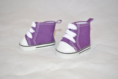 "Unique Doll Clothing High Top Purple Tennis Shoes for American Girl Dolls and Most 18"" Doll - 1"