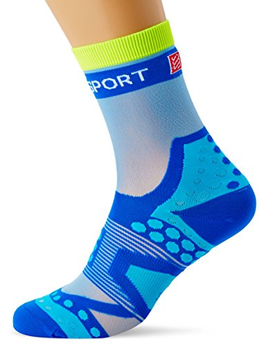 Compressport Racing Socks Ultralight Run Hi Calzino Corsa Ultra Leggero Gara e Allenamento, Blu, T3