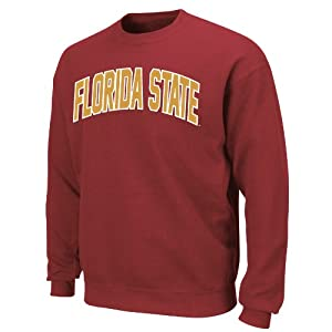 NCAA Florida State Seminoles Gameday Battle Dark Garnet Long Sleeve Crew Neck Fleece by Majestic
