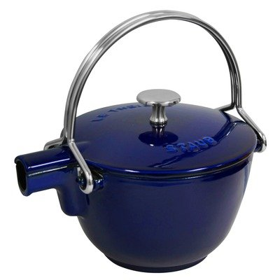 Staub Round Teapot – Kettle, 1 Qt, Dark Blue Best Deals